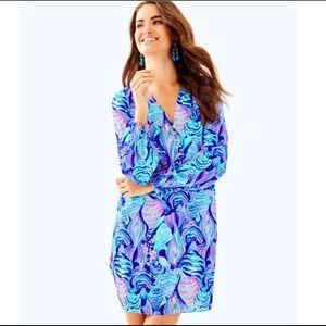 LILLY PULITZER Brynle Dress - Twilight Blue   XS